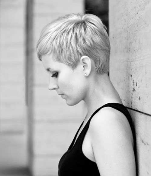 Short Pixie Cuts Back View