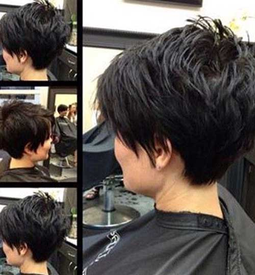 Short Dark Pixie Hairstyles 2014
