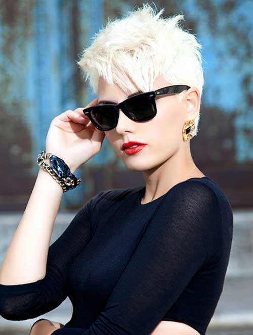 Short Sassy Blonde Pixie Cut