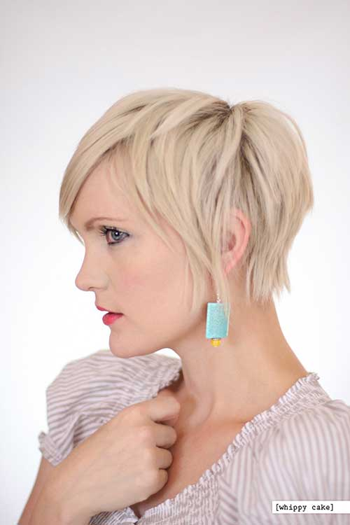 Long blonde Pixie Hairstyle