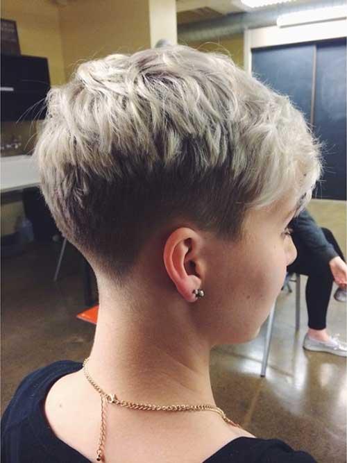 Short Pixie Cut Blonde
