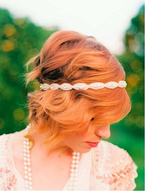 Pretty Wedding Bob Hairstyles with Headbands