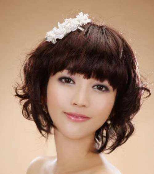 Short Japanese Wedding Hairstyles with Bangs