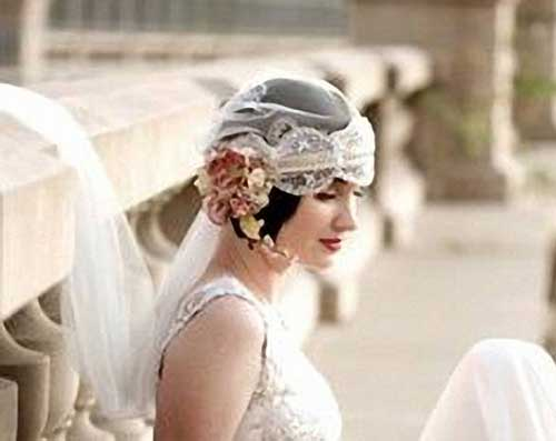 Perfect Wedding Short Hairstyles with 20's Fashion