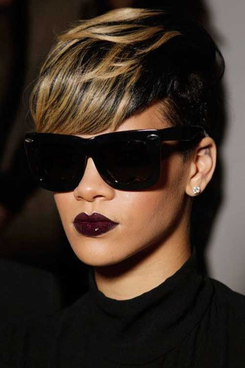 Short Thick Two Color Hairstyles