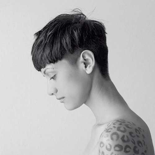 Short Dark Dramatic Pixie Style for Girls