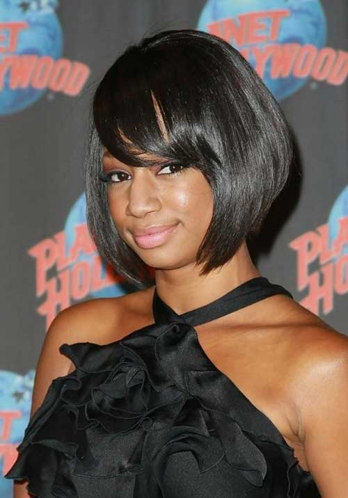 Dark Short Bob Hairstyles for Black Women
