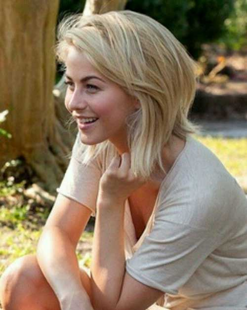 Julianne Hough Blonde Short Bob Hairstyles