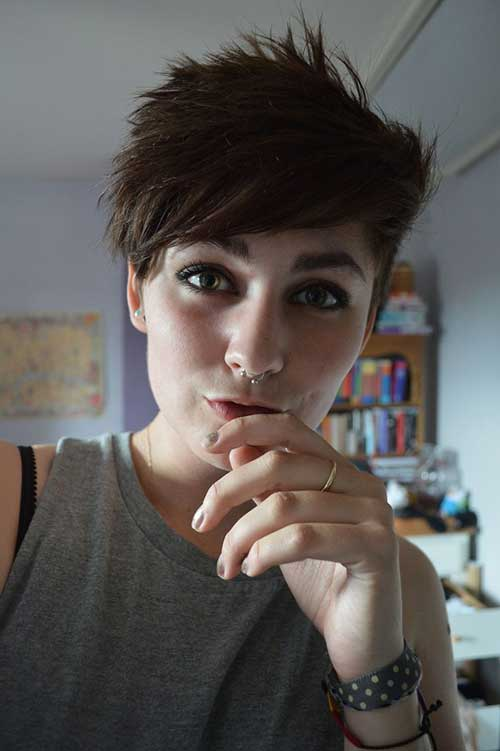 Short Shaved Pixie Hairstyles