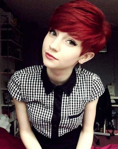 Red Pixie Haircuts for Girls