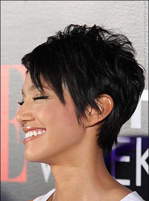 Korte Kapsels Black Pixie Haircut