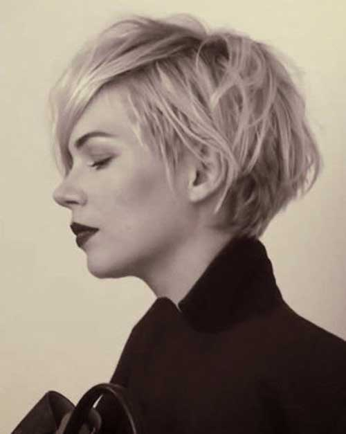 Michelle Williams Long Blonde Pixie Haircuts