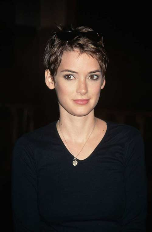 Winona Ryder Super Short Pixie Hairstyle