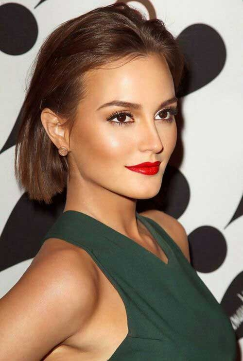 Leighton Meester Simple and Sweet Haircuts