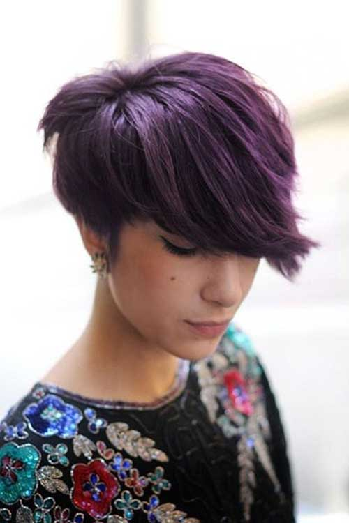 Short Purple and Lavender Haircuts