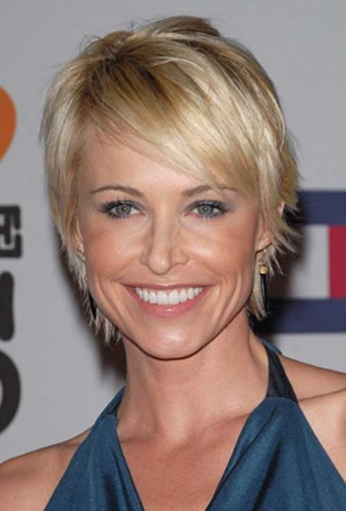 Josie Bissett Short Blond Haricuts with Bangs