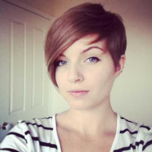 Short Pixie Hairstyles with Side Bangs
