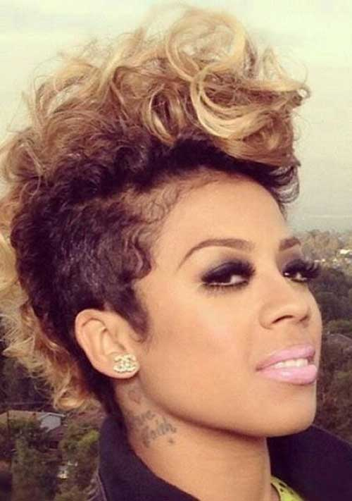 Keyshia Cole Mohawk Hairstyles with Highlights