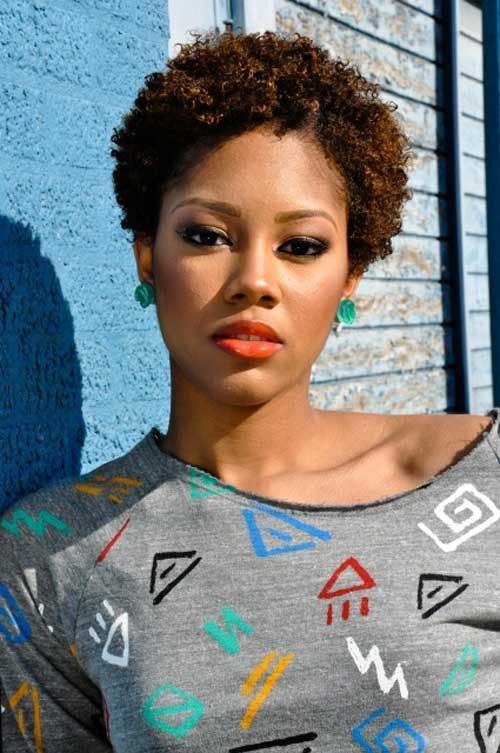 Very Short Natural Afro Hairstyles