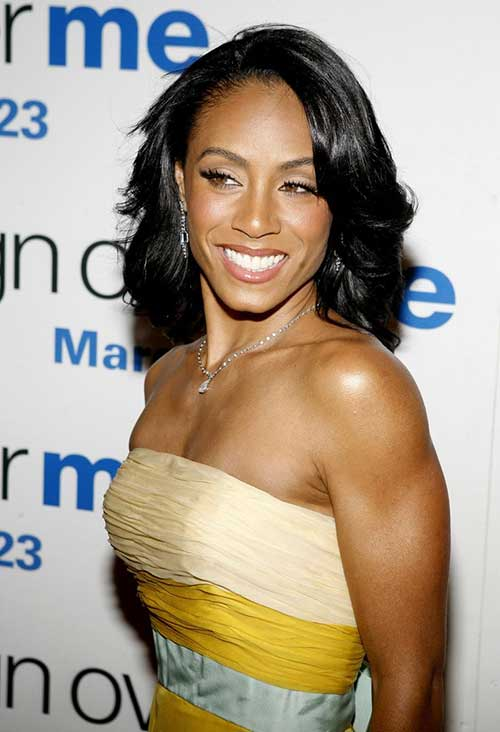 Jada Pinkett Smith Natural Bob Hairstyle