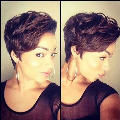 Relaxed Short Hairstyles for African American Women