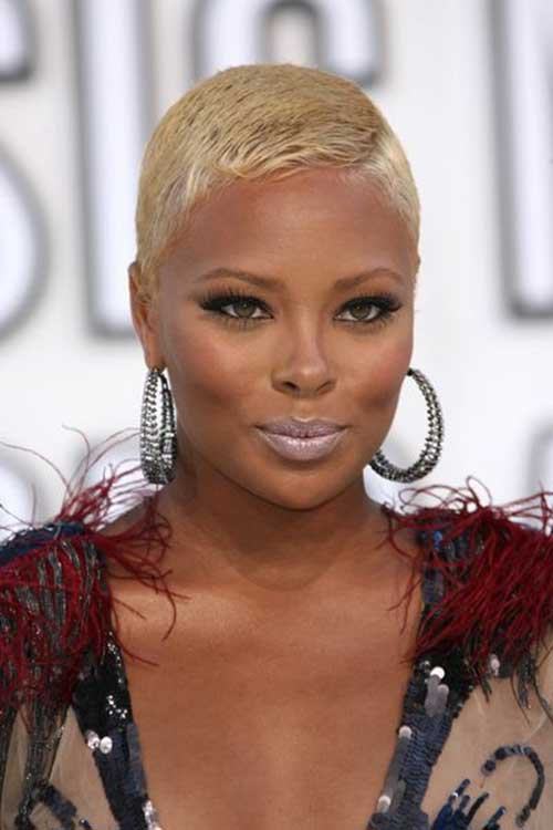 Short Blonde Hairstyles for African American Women