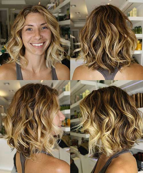 Short to Medium Bob Hairstyles with Ombre Balayage