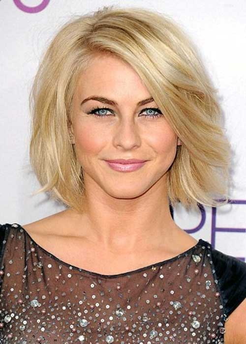 Julianne Hough Short Loose Wavy Bob Hairdoes