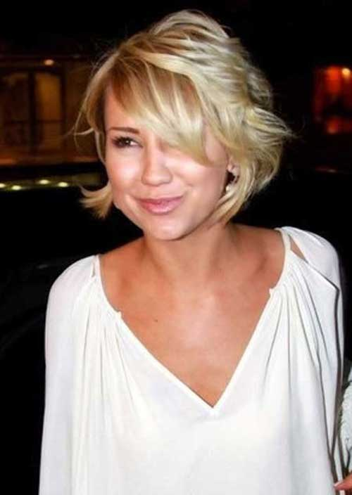 Chelsea Kane Short Bob Haircuts with Side Bangs