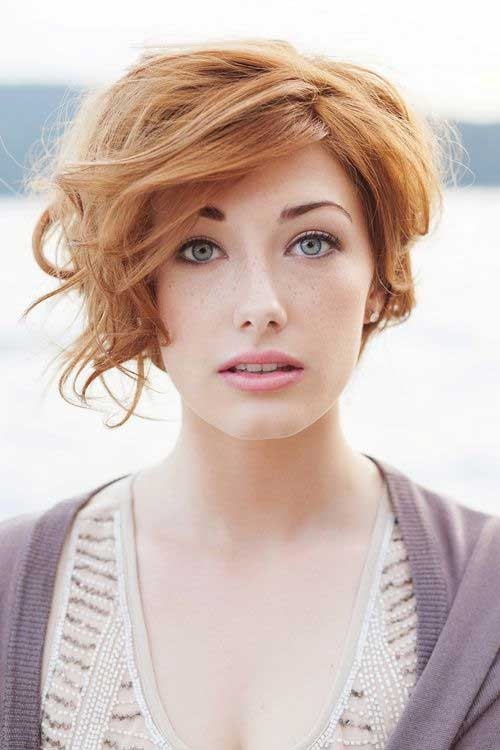 Short Copper Hairstyles for Thick Wavy Hair