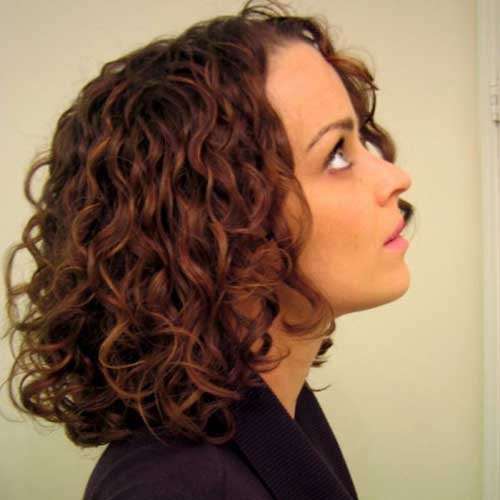 Medium Haircuts with Natural Curls