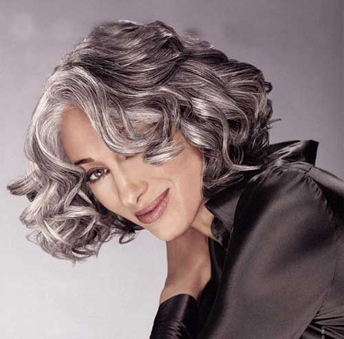 Susan Hersh Short Wavy Hairstyles with White Hair