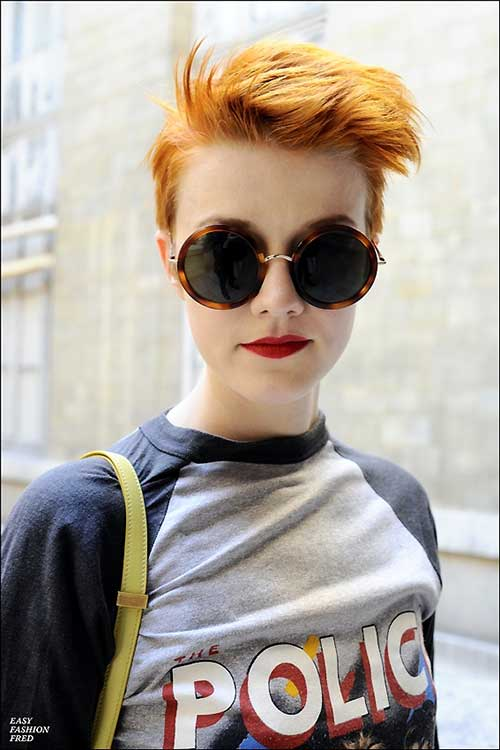 Short Messy Ginger Pixie for Girls Hairstyles