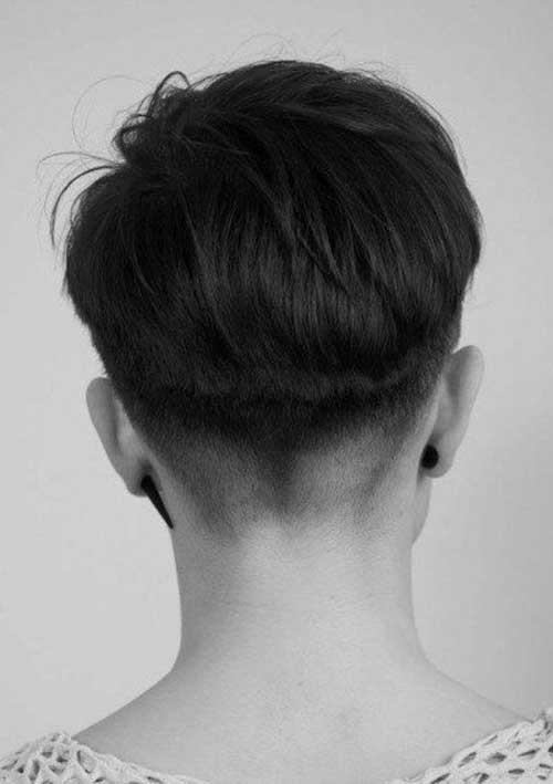 Incredibly Short Layered Voluminous Style Back View