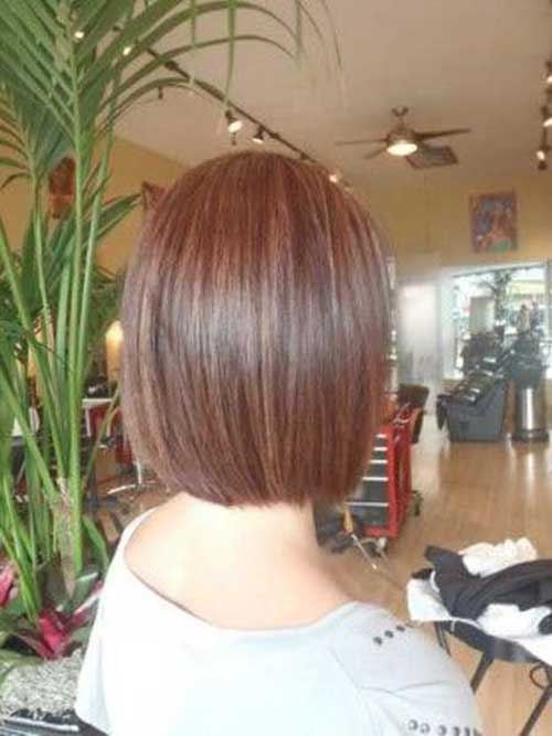 Short Straight Neat Bobs Back View