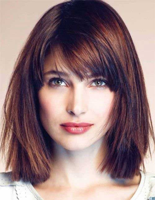 Short Thick Line Bob with Choppy Hairstyles