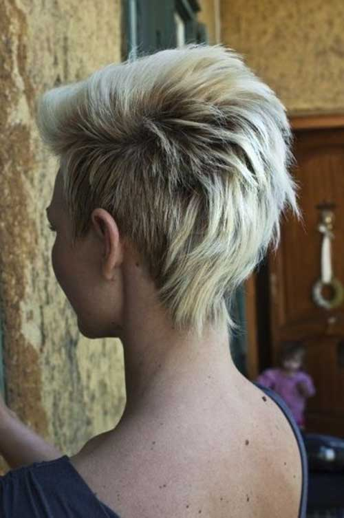 Light Blonde Voluminous Mohawk Hairstyles for Girls