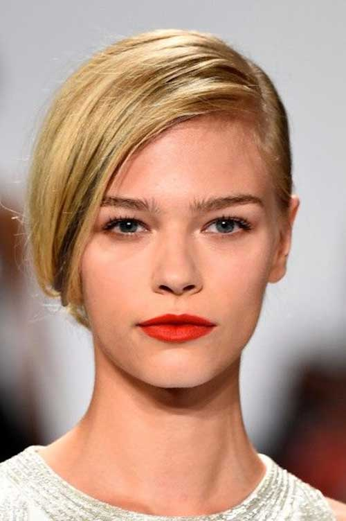 Blonde One Sided Hairstyles for Trendy Girls