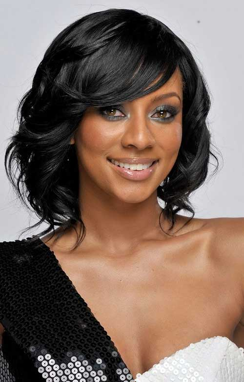 Keri Hilson Short Bob Hairstyles with Side Apart