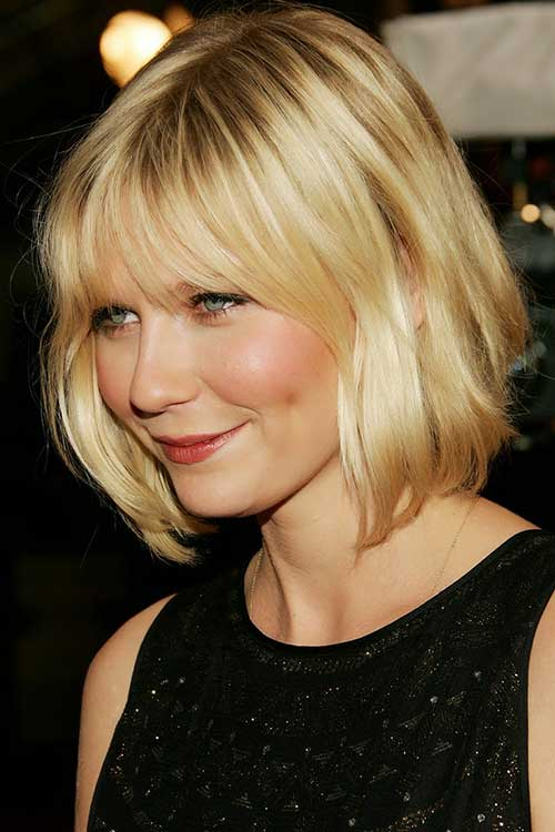 Short Blonde Wavy Bob Hairstyles for Round Faces
