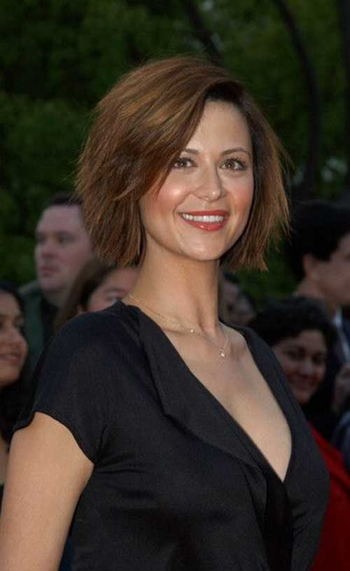 Catherine Bell Layered Razor Celeb Haircuts