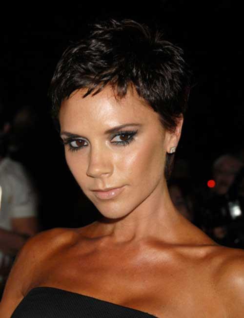 Victoria Beckham Short Natural Pixie Haircuts