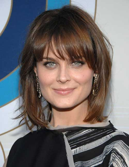 Emily Deschanel Short Layered Hairstyles