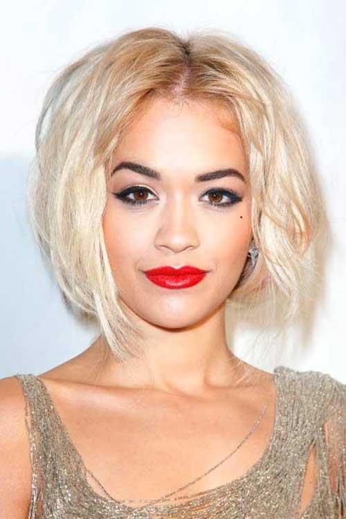 Rita Ora Short Updo Bob Haircuts
