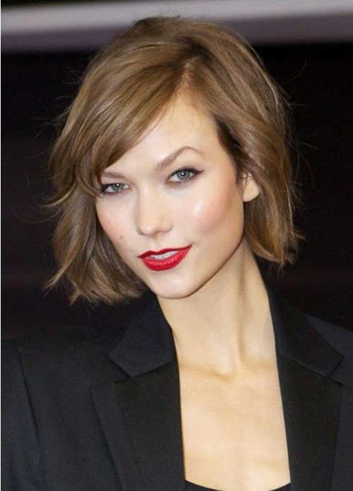Karlie Kloss Light Brown Short Bob Hairstyles