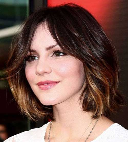 Ombre Bob Wavy Hairstyles for Short Hair