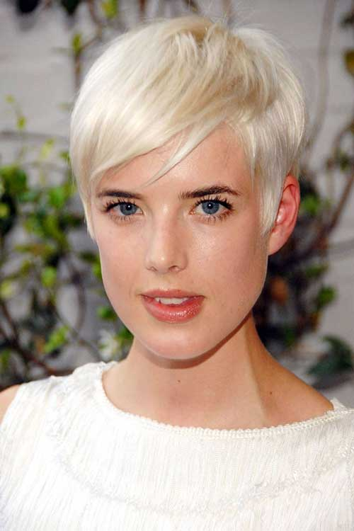 Short Layered Platinum Pixie Haircuts