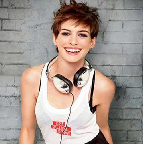 Anne Hathaway Untamed Pixie Hairstyles