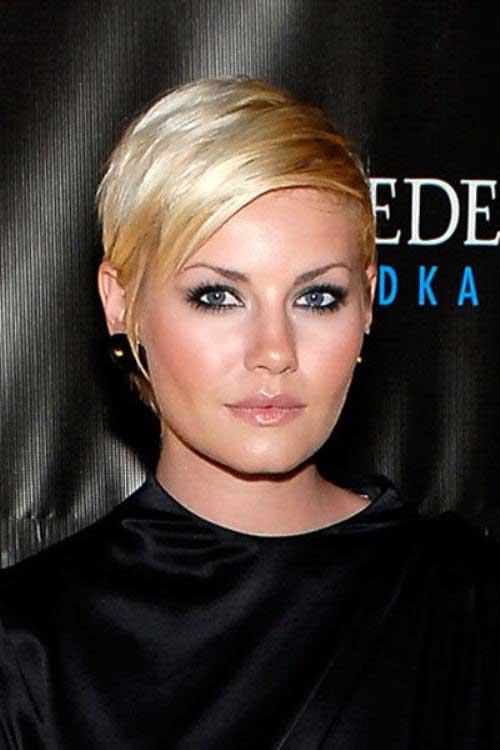 Elisha Cuthbert Flat Short Blonde Haircuts