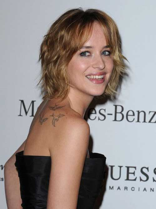 Dakota Johnson Natural Blonde Celebrity Hairstlyes